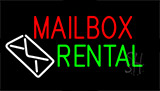 Mailbox Rental Block Flashing Neon Sign
