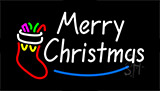 Merry Christmas Flashing Neon Sign