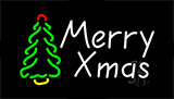 Merry Christmas Tree Flashing Neon Sign