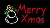 Merry Christmas Animated Neon Sign