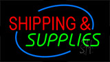 Shipping And Supplies Flashing Neon Sign
