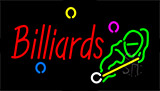 Billiards With Logo Flashing Neon Sign