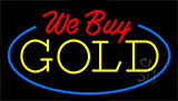 We Buy Gold Animated Neon Sign