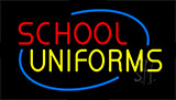 Red School Yellow Uniforms Animated Neon Sign