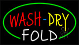 Wash Dry Fold Animated Neon Sign