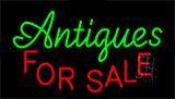 Antiques For Sale Flashing Neon Sign