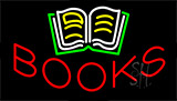 Books With Logo Animated Neon Sign