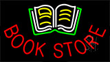 Book Store With Book Logo Animated Neon Sign