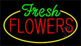 Fresh Flowers Animated Neon Sign