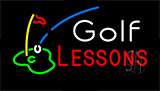 Golf Lessons Flashing Neon Sign