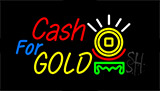 Cash For Gold Animated Neon Sign