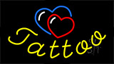 Tattoo With Heart Logo Animated Neon Sign