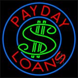 Payday Loans Dollar Logo Neon Sign