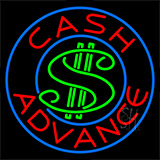 Cash Advance Dollar Logo Neon Sign