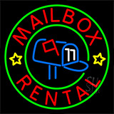 Mailbox Rental Center Logo Neon Sign