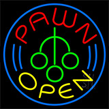 Pawn Logo Open Neon Sign