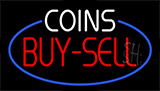 Coins Buy Sell Animated Neon Sign