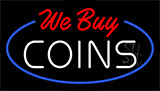 We Buy Coins Animated Neon Sign
