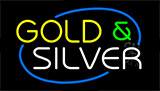 Gold And Silver Animated Neon Sign