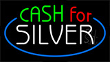 Cash For Silver Animated Neon Sign