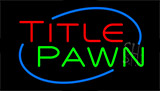 Title Pawn Animated Neon Sign