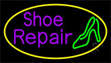 Purple Shoe Repair Sandal Neon Sign