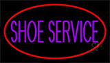 Purple Shoe Service Neon Sign