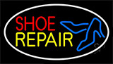 Red Shoe Yellow Repair With Sandals Neon Sign