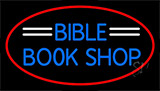 Blue Bible Book Shop Neon Sign
