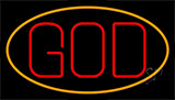 God With Border Neon Sign