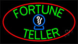 Green Fortune Teller Red Neon Sign