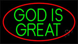 Green God Is Great Neon Sign