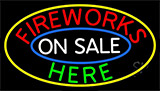 Fireworks On Sale Here Neon Sign