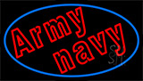 Army Navy With Blue Neon Sign
