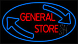 General Store With Arrow Neon Sign