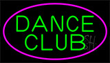 Green Dance Club Pink Border Neon Sign