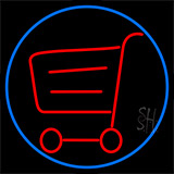 Grocery Trolley Logo Neon Sign