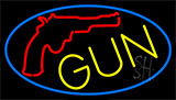 Gun With Logo Neon Sign