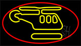Helicopter Logo Neon Sign