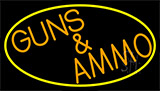 Orange Guns And Ammo Neon Sign