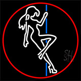 Pole Dance Girl Strip Club Neon Sign