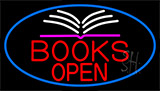 Red Books Open Neon Sign