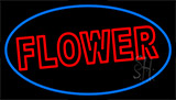 Red Flowers Neon Sign