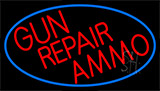 Red Gun Repair Ammo Neon Sign