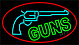 Red Guns Turquoise Logo Neon Sign