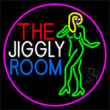 The Jiggly Room With Girl Logo Neon Sign