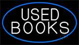 Used Books With Blue Border Neon Sign