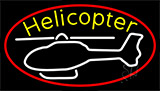 White Helicopter Logo Neon Sign