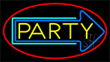 Party With Arrow 3 Neon Sign