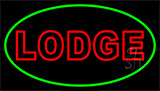 Double Stroke Lodge Neon Sign